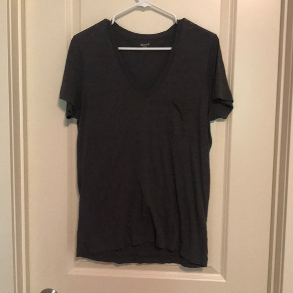 Madewell Tops - Basic Gray V Neck